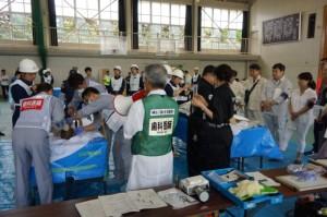 西湘高等学校会場 多数遺体収容施設設置運営訓練